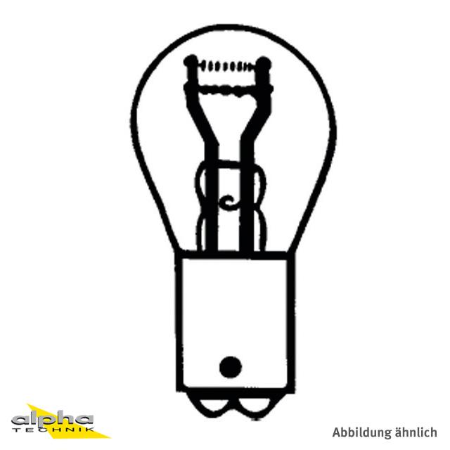 LAMPE (10)  6V 21/5W, BAY15d, Kugelbirnchen