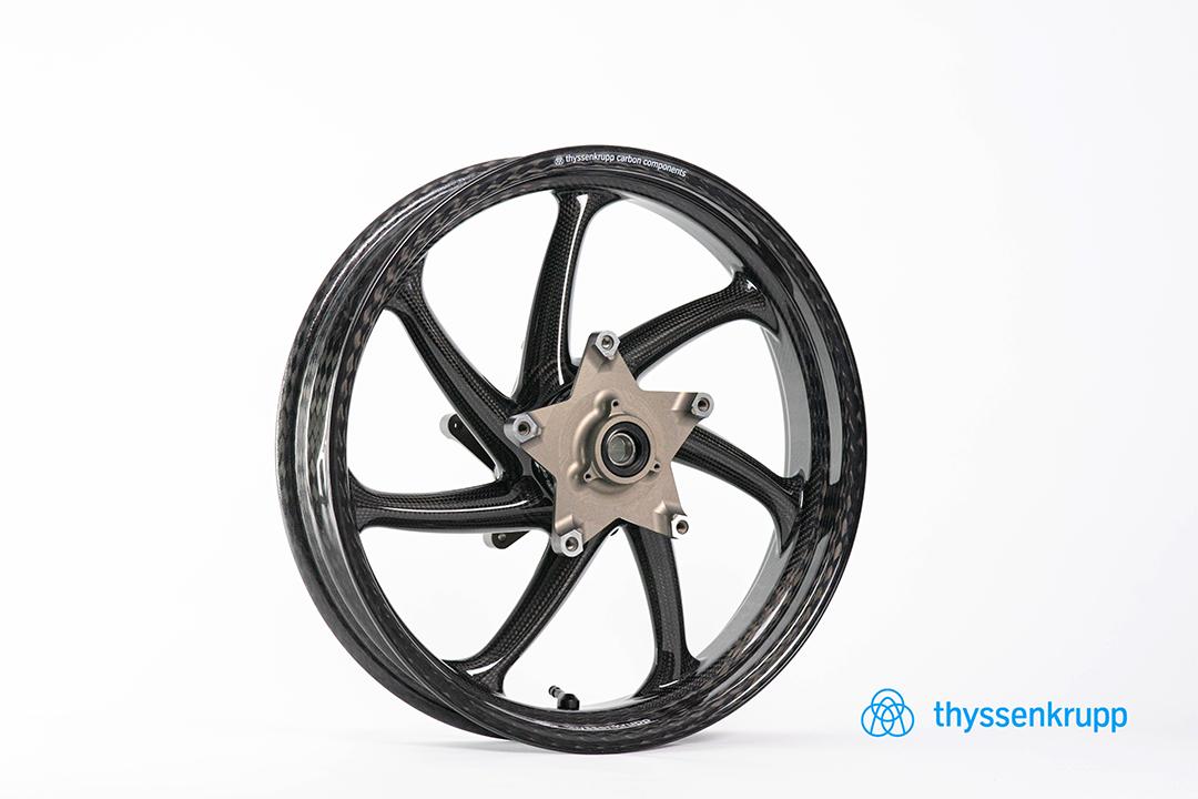 thyssenkrupp Carbon Felgensatz mit ABE für Kawasaki Z900 RS / Cafe ab Modelljahr 2017-