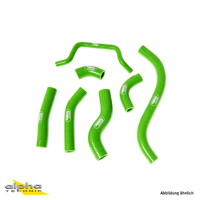 Siliconschlauch Kit grün Kawasaki KX450F, 2012-15