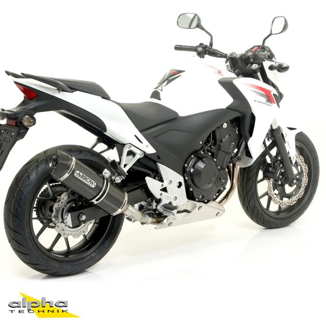ARROW Auspuff RACE TECH für Honda CB500F / CBR500R / CB500X 2013- aus Carbon