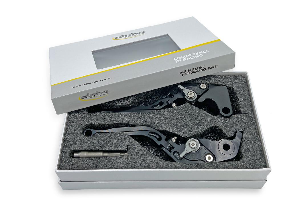 Hebel Set EVO schwarz, für Suzuki GSX-R 1000 2005- , GSX-R 600 2006- , GSX-R 750 2006-