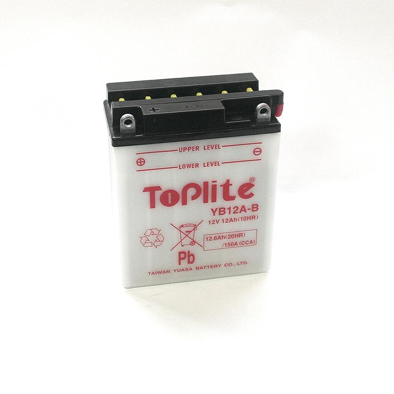 ToPlite YUASA Batterie YB12 A-B