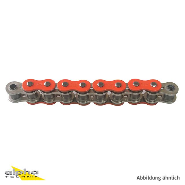 Kette ENUMA MVXZ-2 525, ideale OEM-Ersatzkette - 126 Glieder - Farbe Orange