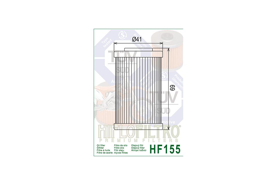 HIFLO Ölfilter HF155  für diverse Beta / Husaberg / Husqvarna / KTM Modelle