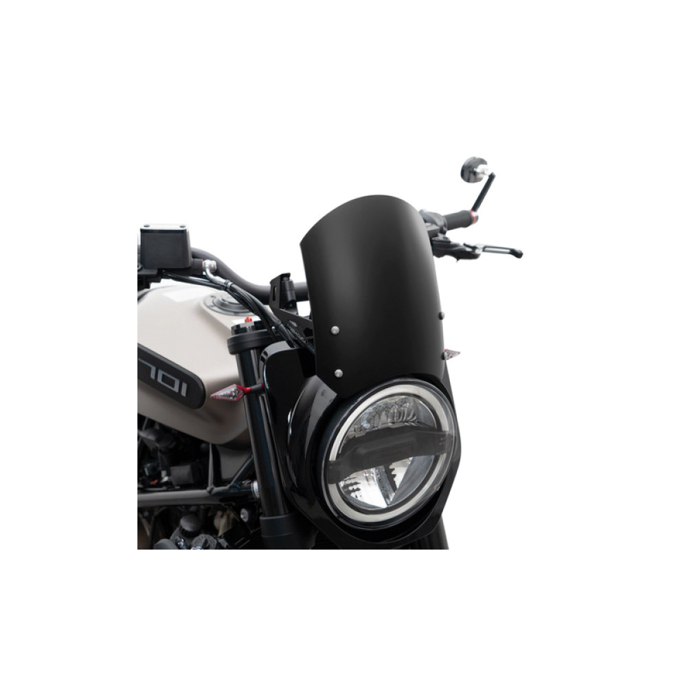 Barracuda Windschild Classic Aluminum schwarz für Husqvarna Vitpilen 701 2019-