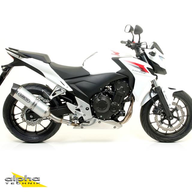 ARROW Auspuff RACE TECH für Honda CB500F / CBR500R / CB500X 2013- aus Aluminium