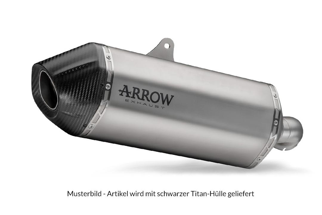 """ARROW Auspuff DARK SONORA für Honda CRF1100L Africa Twin 2021-, Titan """"dark"""" und Carbon-Endkappe"""