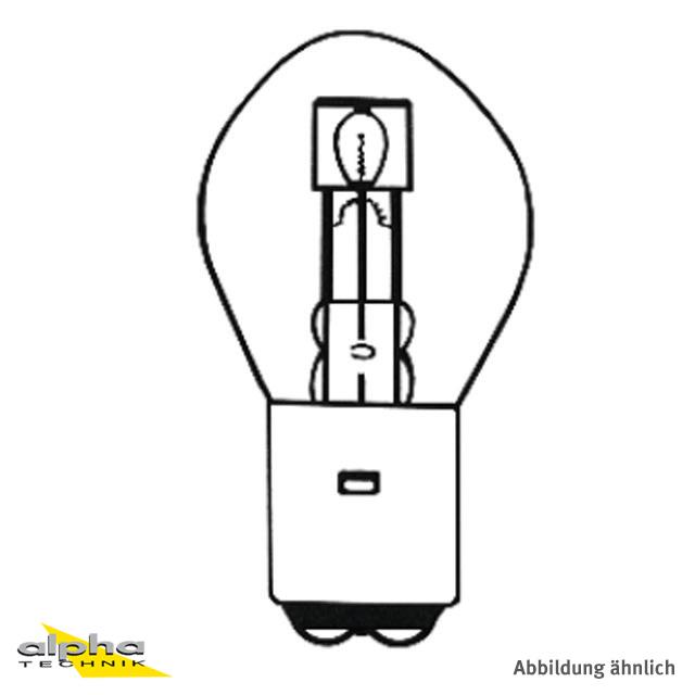 LAMPE 12V 35/35W BA20D B35X70 C-8/S-2 S2 LF