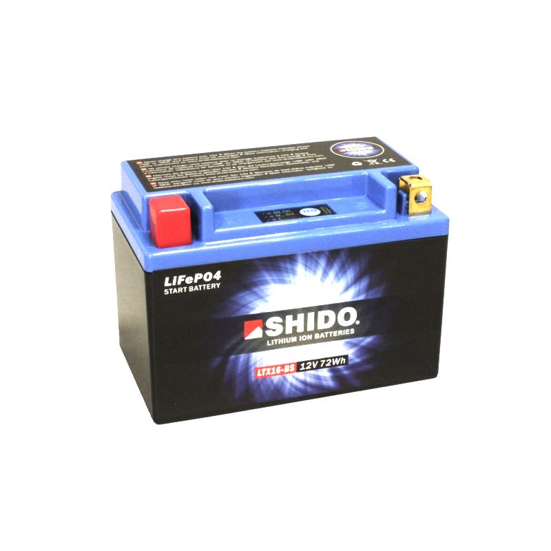 SHIDO Lithium-Batterie LTX16-BS-Li