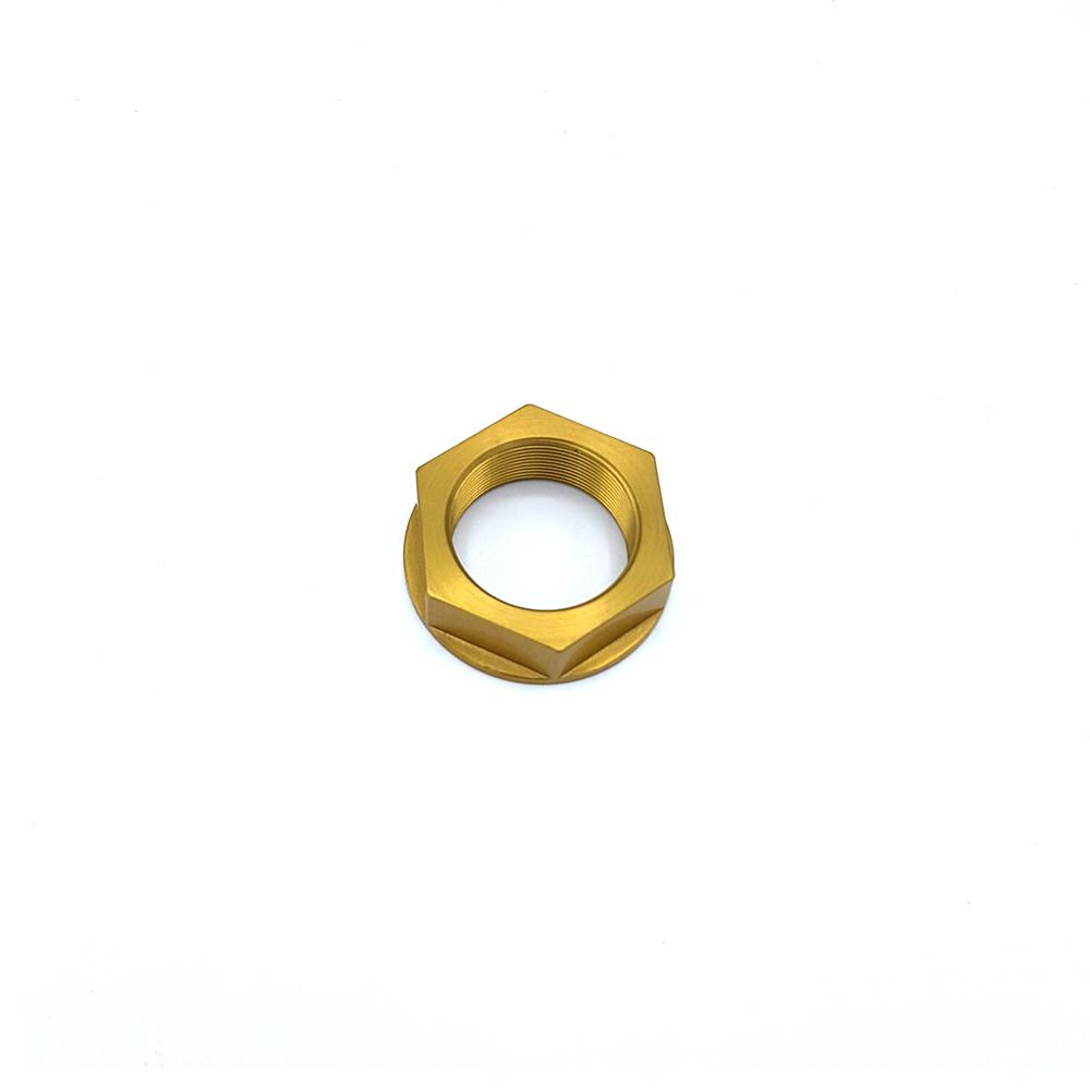 BKG Steuerkopfmutter M 28 x 1, Alu Gold