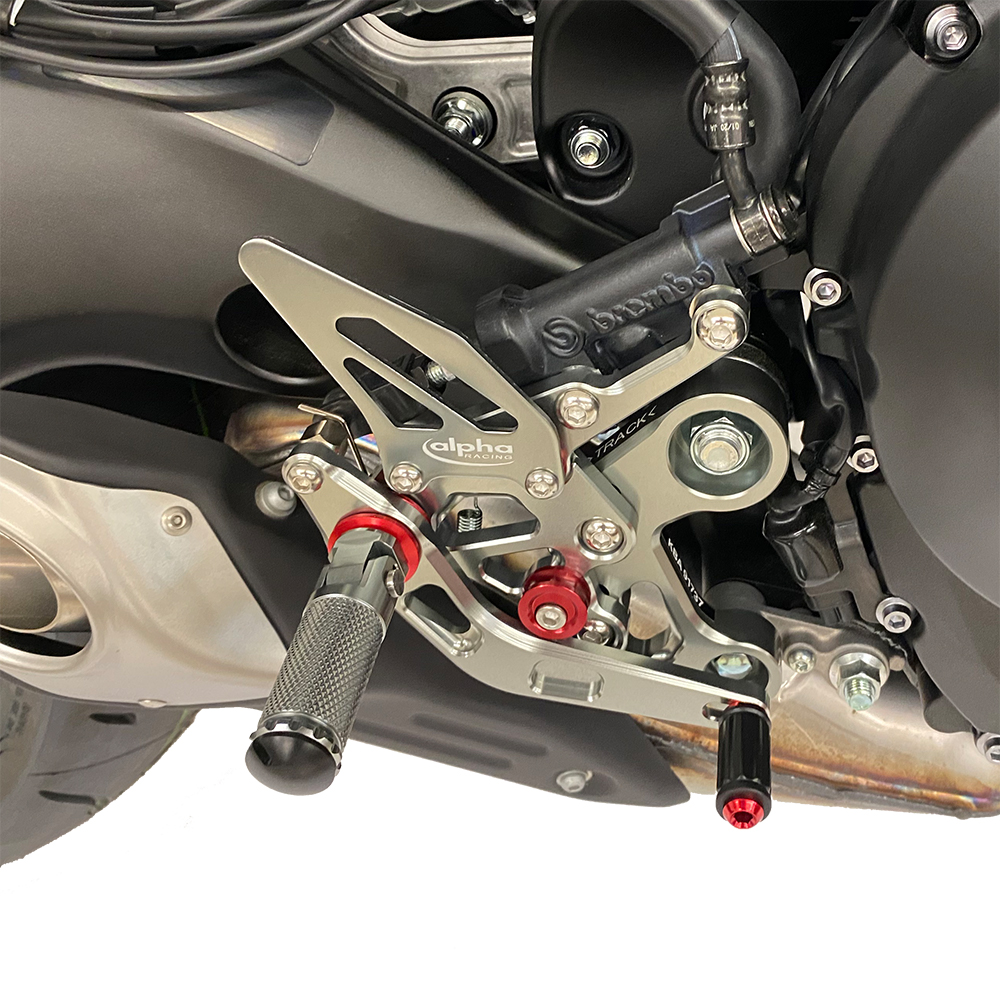 >TRACK< Fußrastenanlage titanfarben Yamaha MT09 ab 2014 / MTN850-A ab 2017 /MTM-850 ab 2016 ABE in Vorbereitung