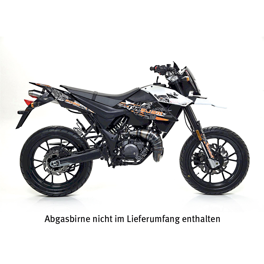 GIANNELLI Endschalldämpfer ENDURO 2STROKE für KSR Moto TR50SM, 2014-16, Malaguti XSM50, 2019-