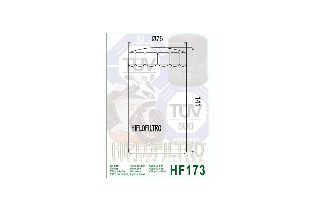HIFLO Ölfilter HF173C für diverse HARLEY Dyna Glide Sturgis / Super Glide / Glide Daytona / Glide Custom / Low Rider / Wide Glide Modelle