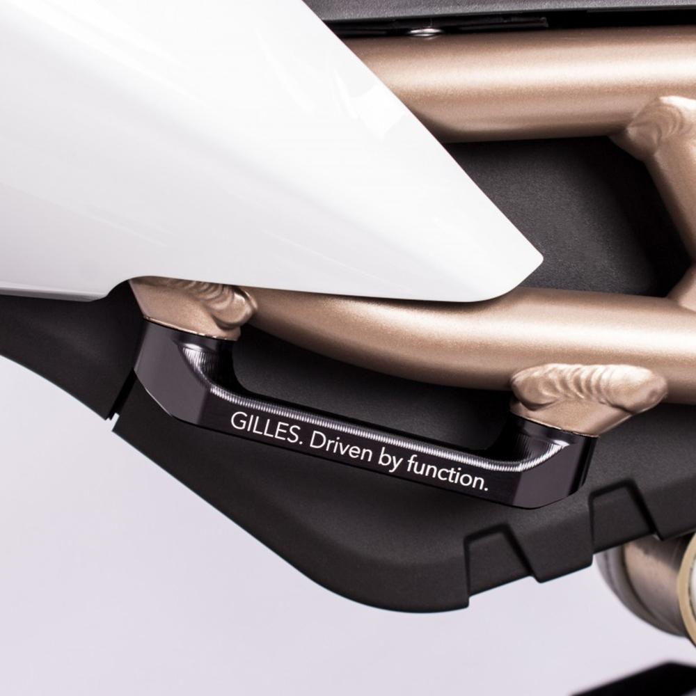 Gilles Soziusträgerabdeckung, schwarz, BMW S1000RR