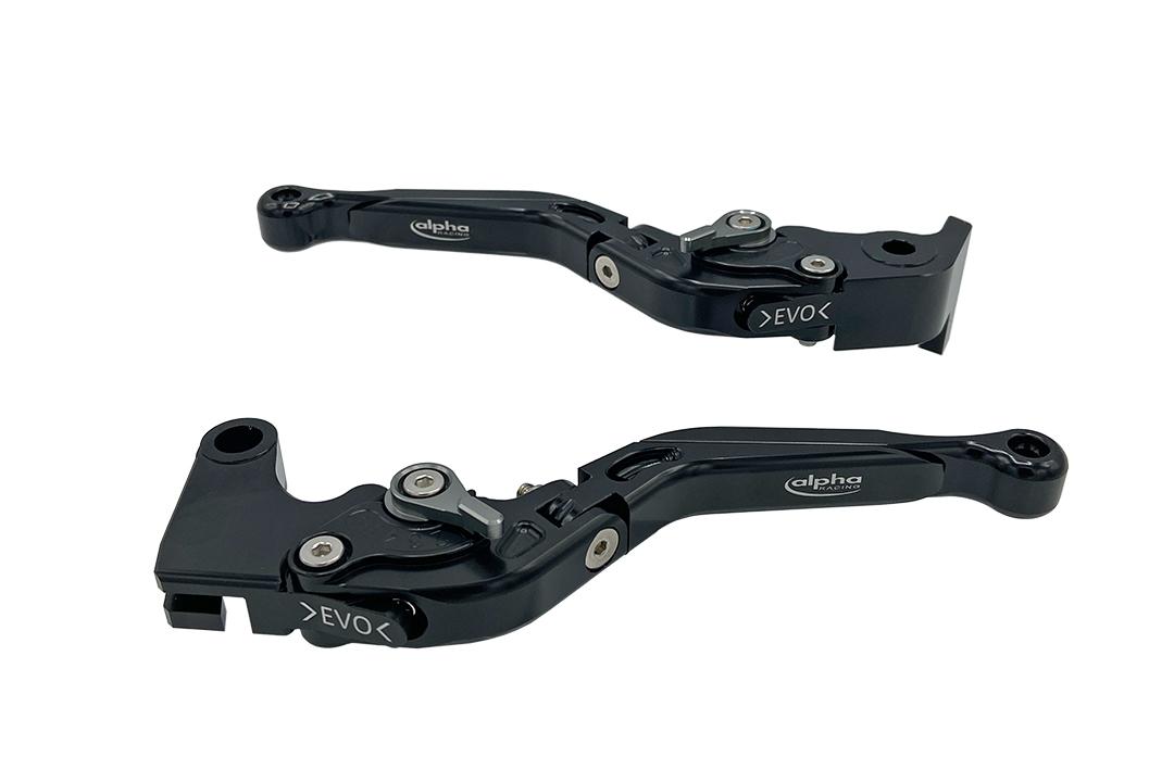Hebel Set EVO schwarz, für Kawasaki Z1000 2007- , Z1000SX 2011- , Z750R 2011- , ZX10R 2006- , ZX6R 2007-