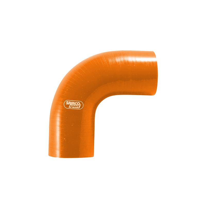 Siliconschlauch 90 Grad Standard Bogen orange