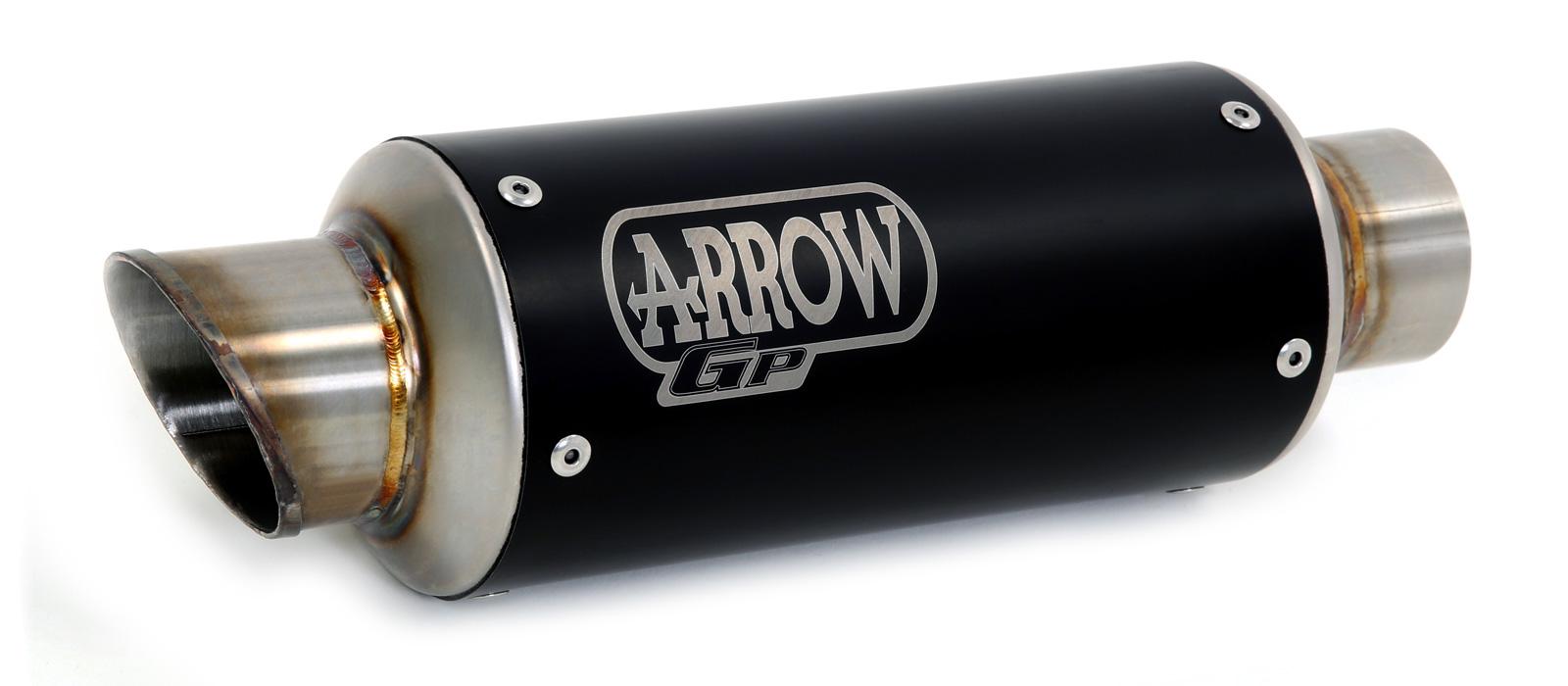 ARROW Racing-Auspuff DARK GP2 für Kawasaki Z650 2017- aus Edelstahl