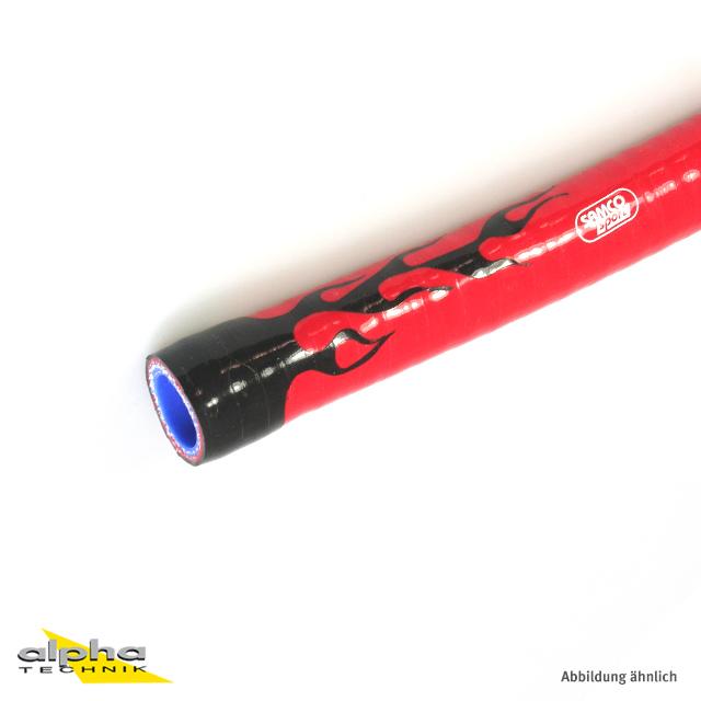 Siliconschlauch Superflex 19mm schwarz, rote Flam.