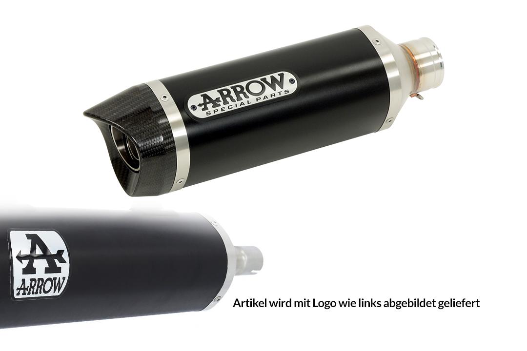 ARROW Thunder Auspuff Aluminium schwarz mit Carbon-Endkappe für Yamaha MT-07 ab Modelljahr 2021-