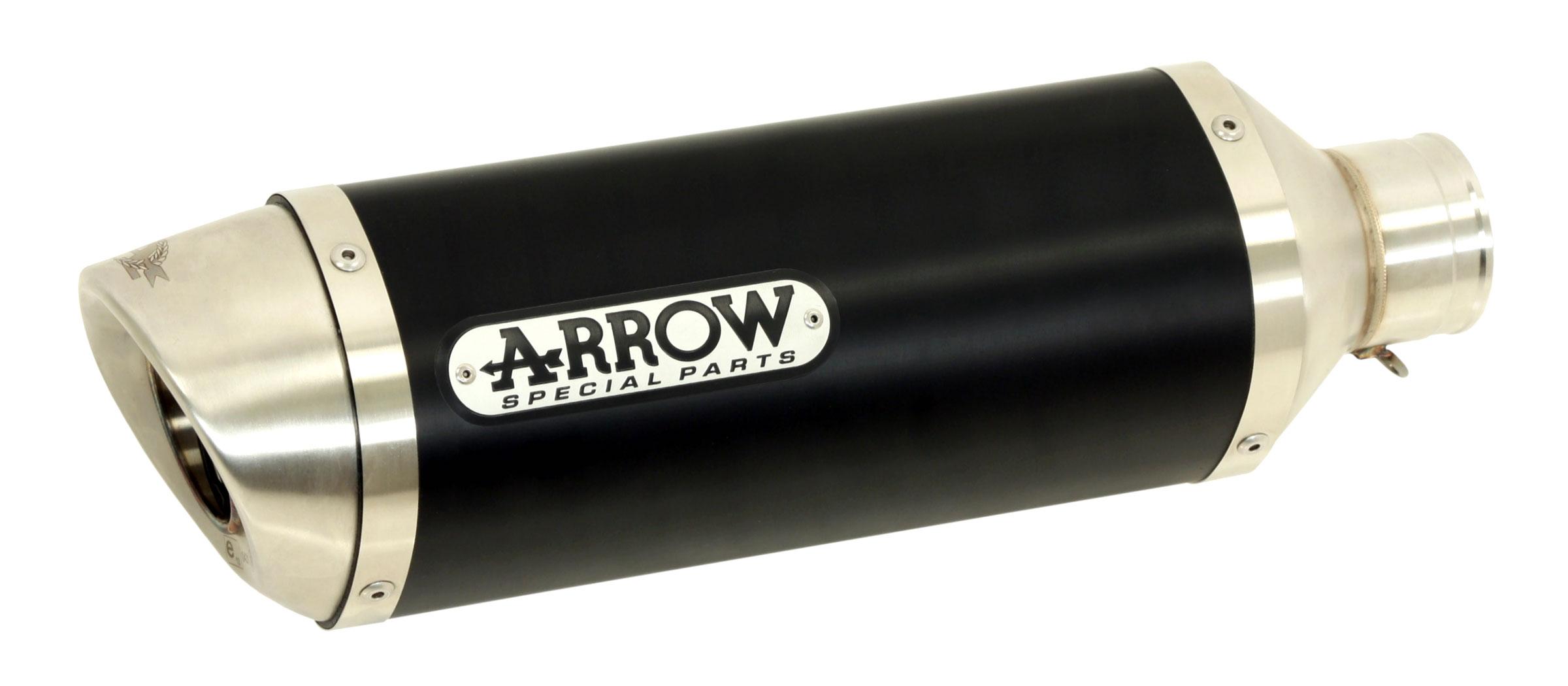 ARROW Auspuff DARK THUNDER für Honda CBF125 2009-2014, Aluminium (Nur für ARROW Krümmer)