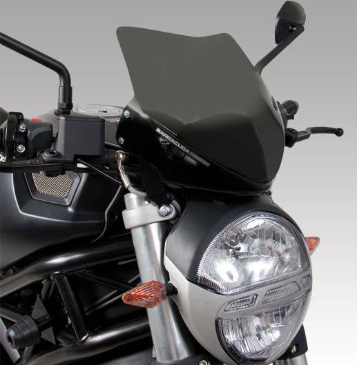 Barracuda Windschild Aerosport Plexiglas für Ducati Monster 696 und Ducati Monster 796