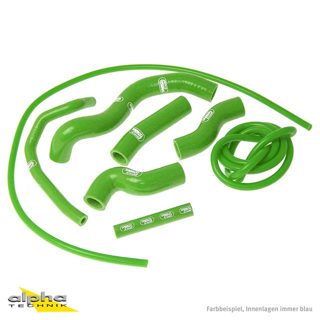 Siliconschlauch Kit grün f Kawasaki  Z1000, ZRT00B