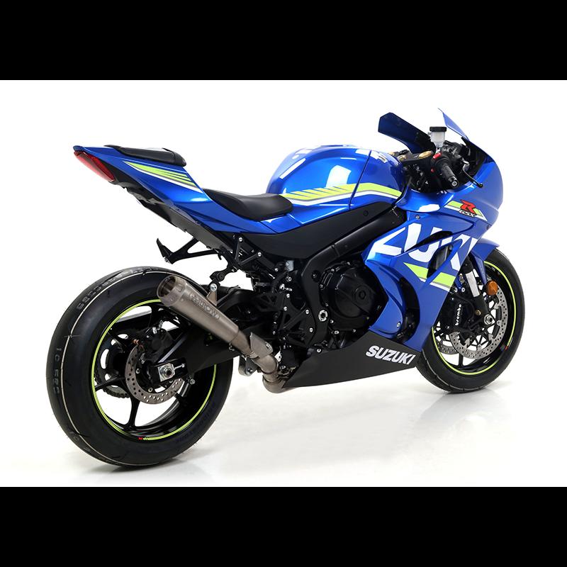 ARROW Auspuff Komplettanlage PRO-RACE COMPETITION EVO FULL TITANIUM SYSTEM für Suzuki GSK-R1000 2017-, Titan