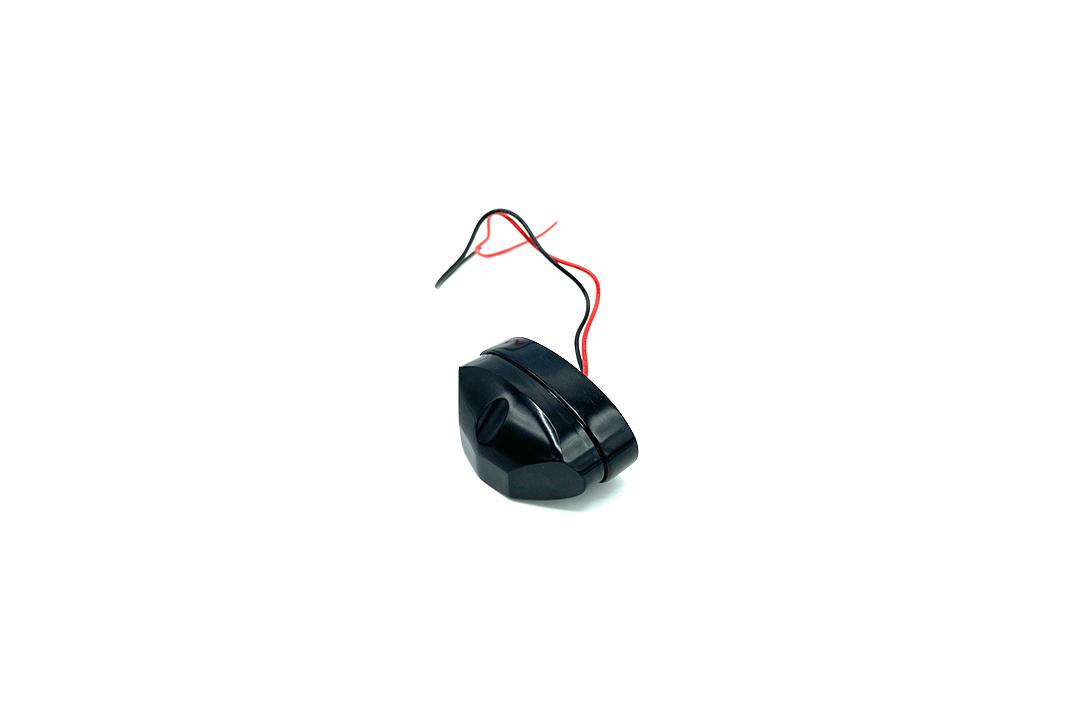 """LED-Kennzeichenbeleuchtung """"Micro Space"""" aus Aluminium schwarz mit E-Prüfzeichen"""