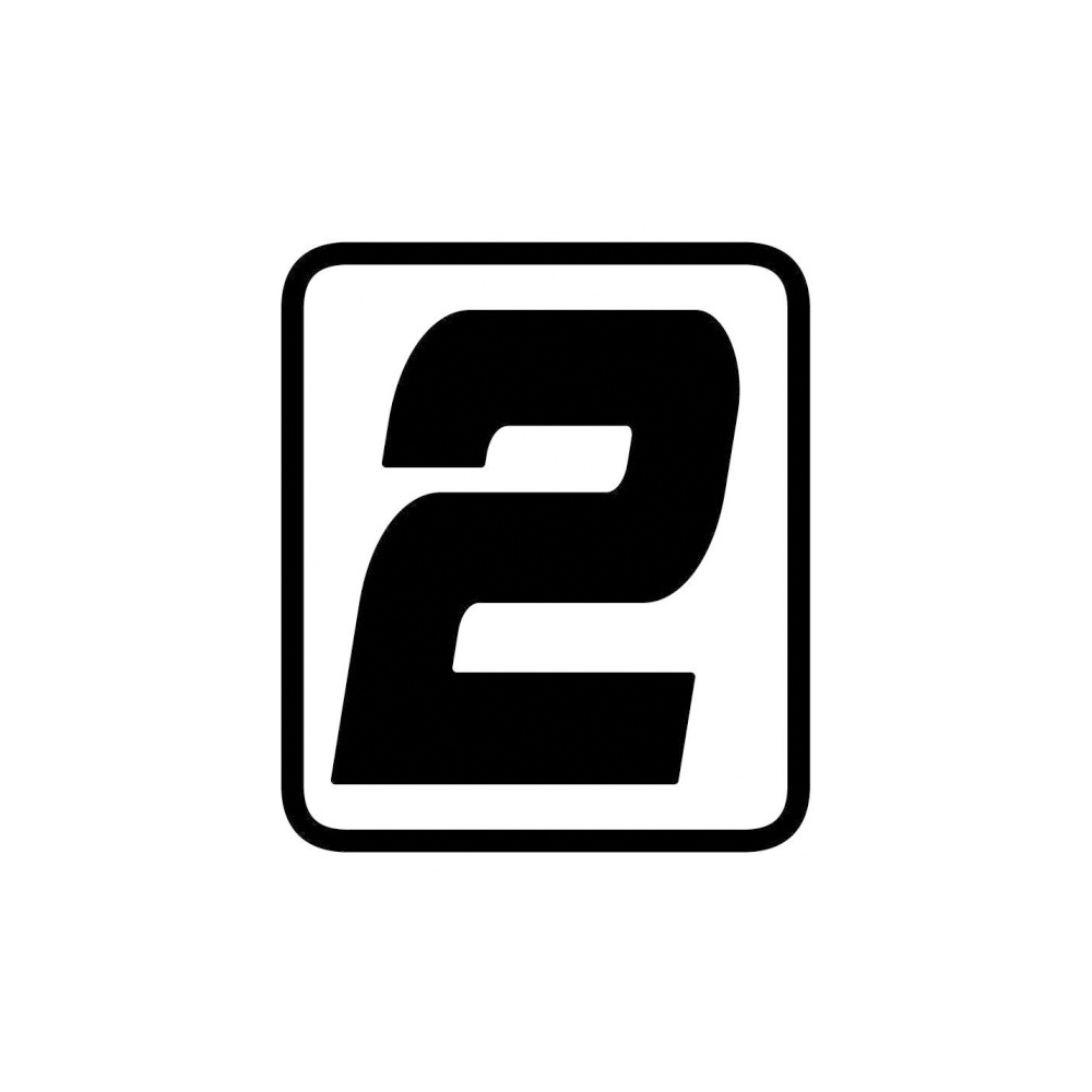 "Barracuda Startnummern Aufkleber ""2"""