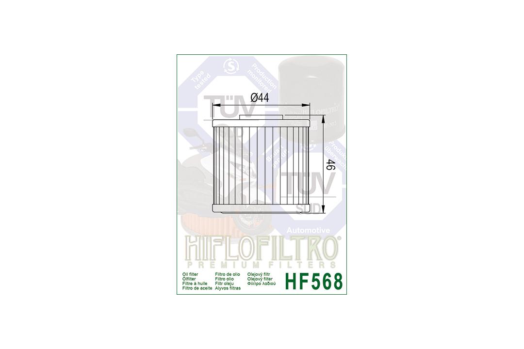 HIFLO Ölfilter HF568 für Kymco Xciting 400,