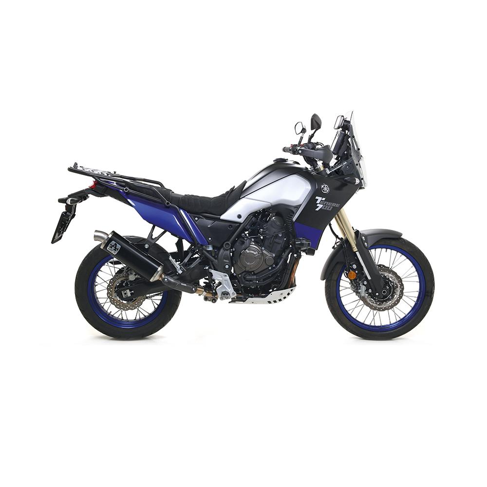 ARROW Auspuff DARK INDY RACE für Yamaha Tenere 700 2019-, Aluminium schwarz