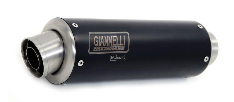 GIANNELLI Komplettanlage mit X-PRO BLACK Auspuff für Yamaha YZF-R125, Modelljahr 2017-18 aus Edelstahl, mit Katalysator