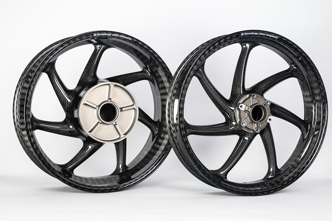 thyssenkrupp Carbon Felgen Style 1  für BMW S1000XR K10 / 2X10