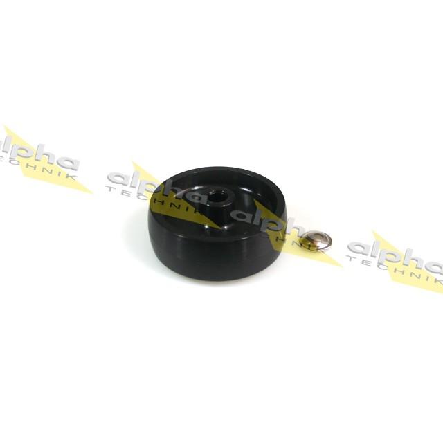 Ersatzrad für Montageständer, Nylon schwarz D=80mm