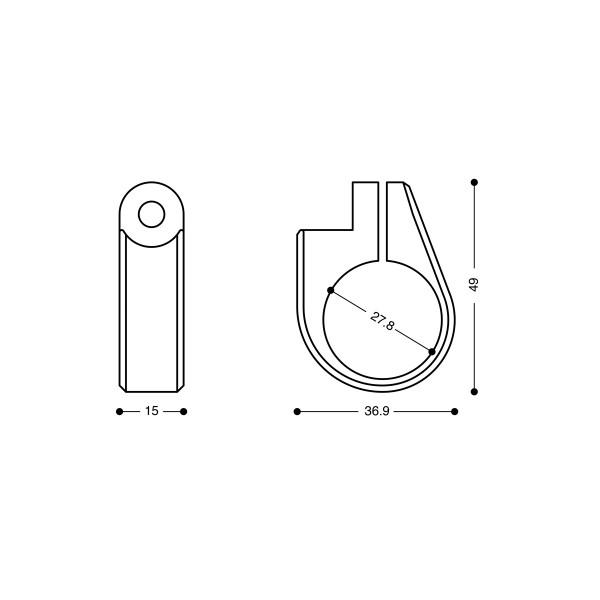 Barracuda Adapterringe für Lenkerendenspiegel oder B-LED-Blinker