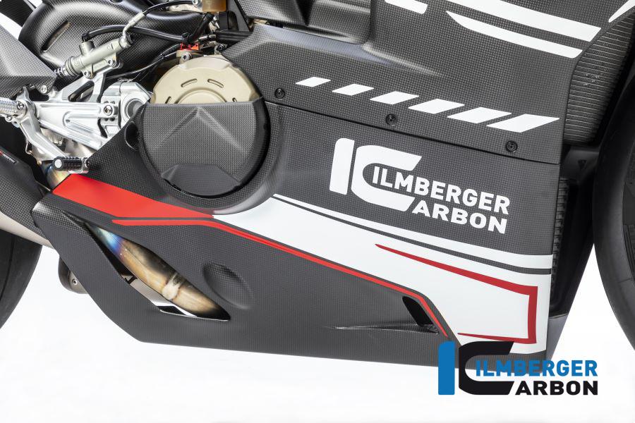 Ilmberger Carbon Verkleidungsunterteil für Akrapovic Slip On Auspuff für Ducati Panigale V4 / V4S ab 2018