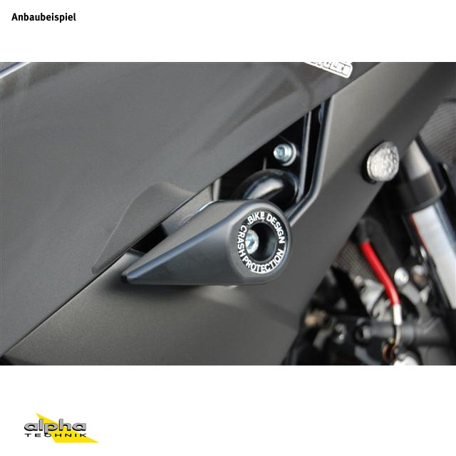 TEAR DROP Sturzpad-Kit für Honda Hornet 600 (PC41) 2007-13 schwarz