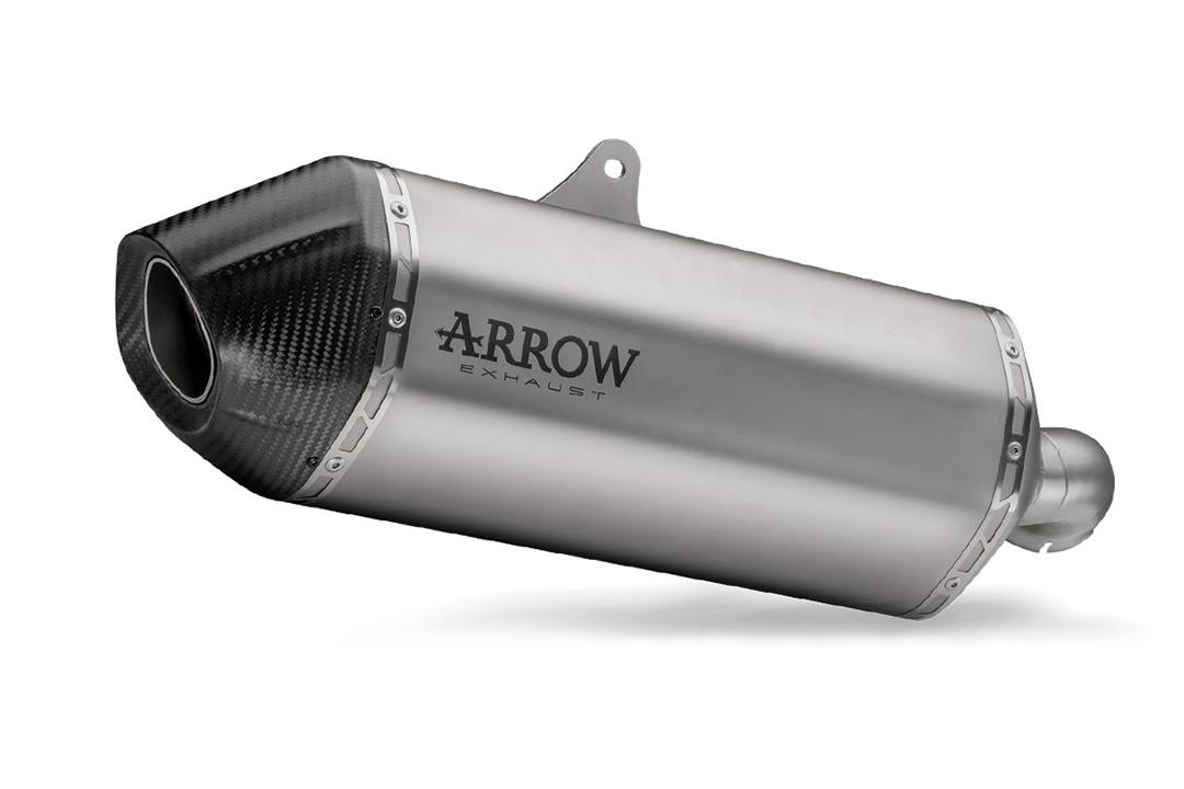 ARROW Auspuff SONORA für Honda CRF1100L Africa Twin 2021-, Titan und Carbon-Endkappe
