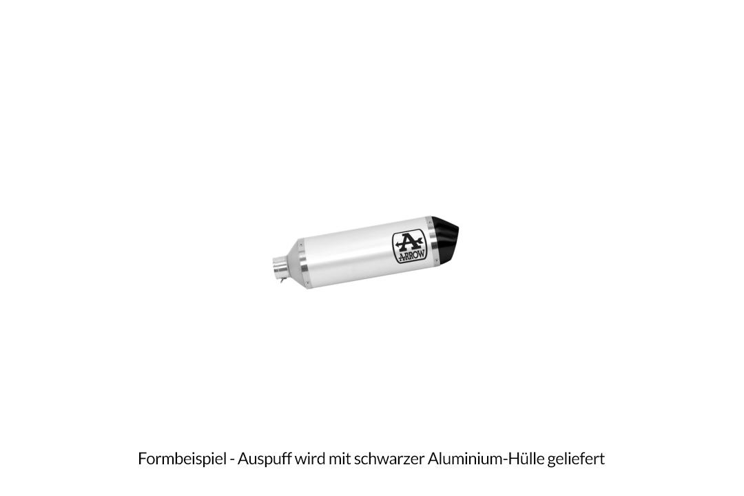 ARROW URBAN Auspuff für Peugeot Metropolis 400 2017- und 2021- , Aluminium schwarz mit schwarzer Edelstahl-Endkappe