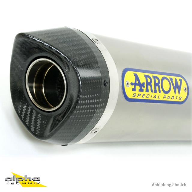ARROW Auspuff THUNDER für Honda CBR125R 2011-2016m Aluminium (Nur mit ARROW Zwischenrohr)
