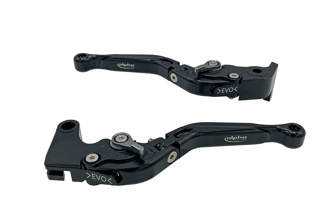 Hebel Set EVO schwarz, für verschiedene Ducati, Aprilia, MV Agusta, Benelli, Kawasaki, Moto Morini und MV Agusta Modelle