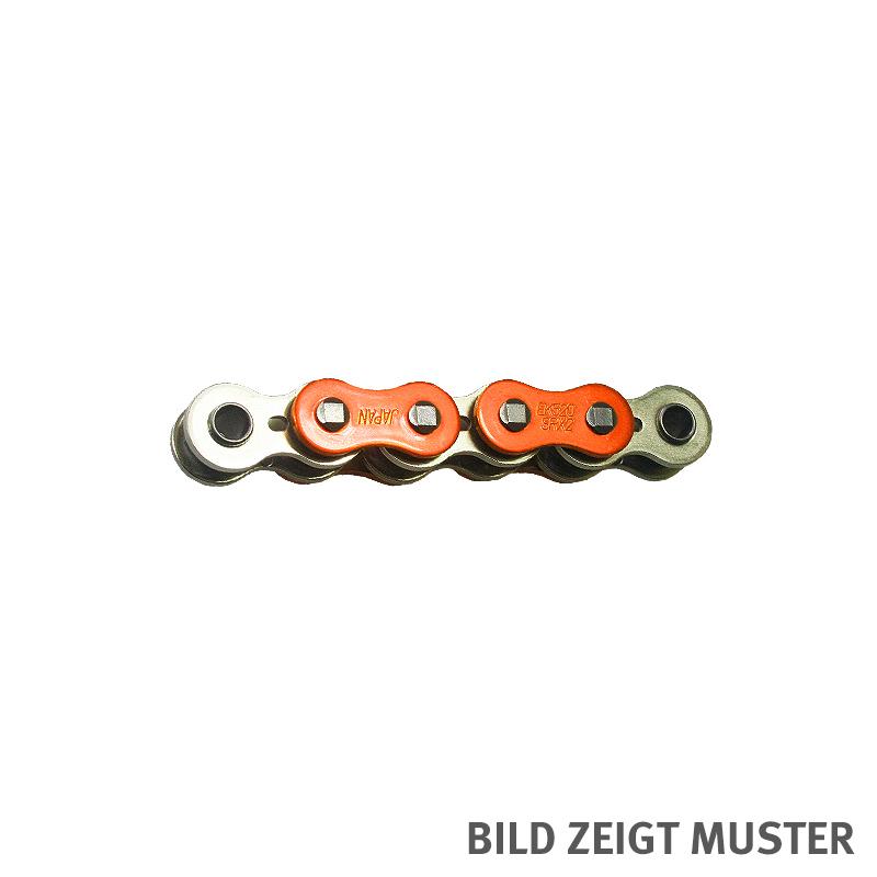 Kette ENUMA MVXZ-2 525, ideale OEM-Ersatzkette - 104 Glieder - Farbe Orange metallic