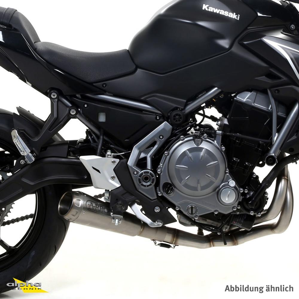 ARROW Auspuff PRO-RACE für Kawasaki Z650 / Ninja 650 2017-, Edelstahl (Nur mit ARROW Krümmer)