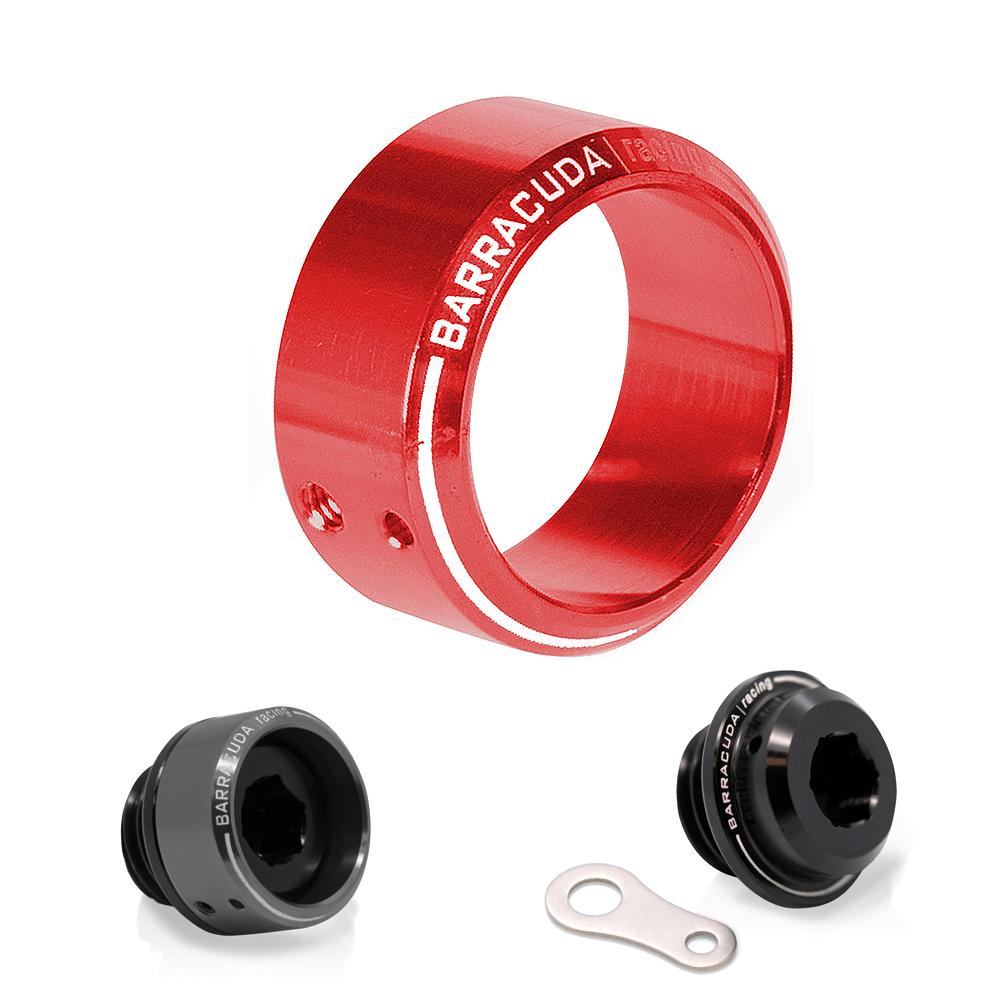 Rot eloxierter Einsatz für Öleinfüllschraube Ø 28 mm passend für BC-HN102, BC-YN102 und BC-SN102