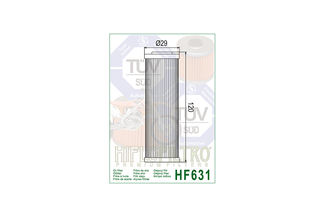 HFILO Ölfilter HF631 für diverse BETA Modelle