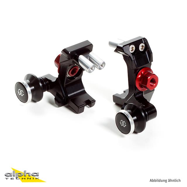 GILLES Achsblock Yamaha MT07 (RM04) schwarz/rot
