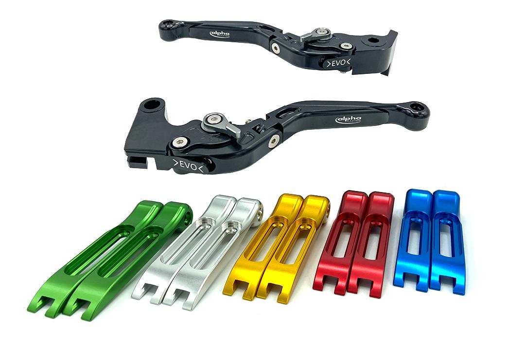 Hebel Set EVO schwarz, für Yamaha FZ1, FZ6, FZ8, MT07, MT09, Tracer 700, Tracer 900, XSR700, XSR900, XJ6, Ténéré 700