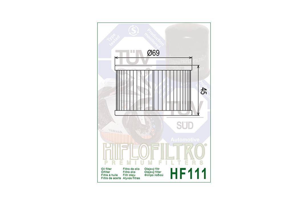 HIFLO Ölfilter HF111 für diverse Honda Modelle