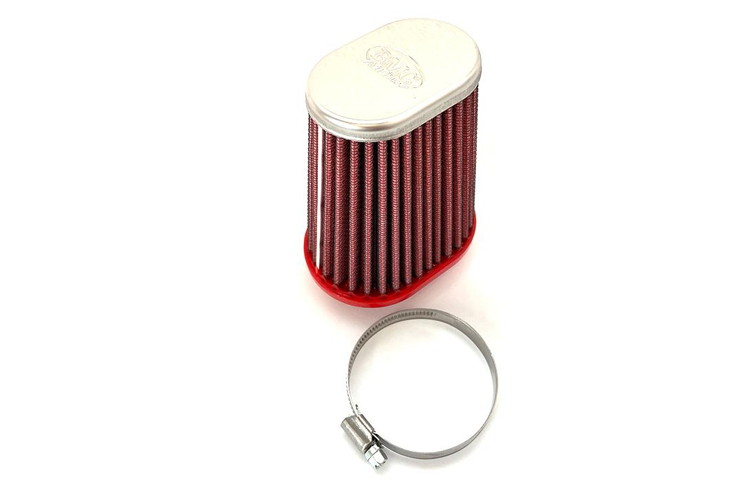 BMC Universal-Sportluftfilter Konisch, 50 mm Durchmesser, 120 mm Länge, rechts, Chromkappe