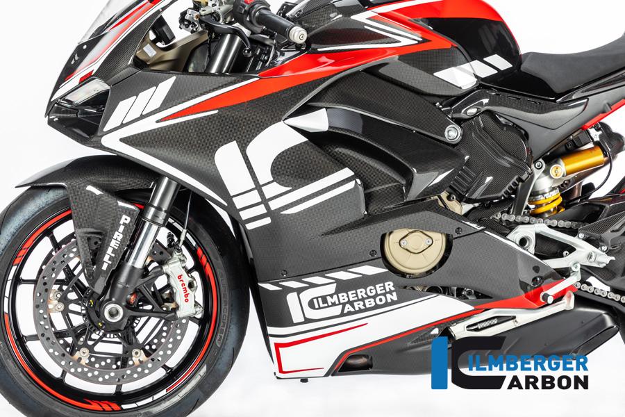 Ilmberger Carbon Verkleidungsseitenteil links glanz für Ducati Panigale V4 / V4S ab 2018